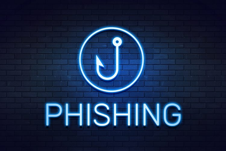 dibujo de phishing en una pared
