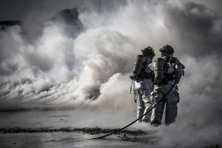 PRL en bomberos.