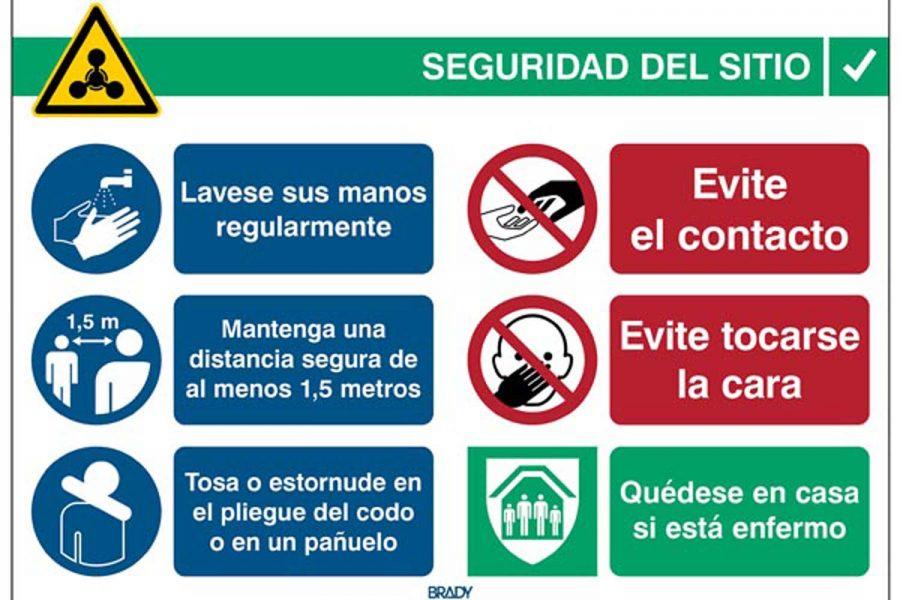 Señales de seguridad especiales para el covid-19 - Seguridad Laboral