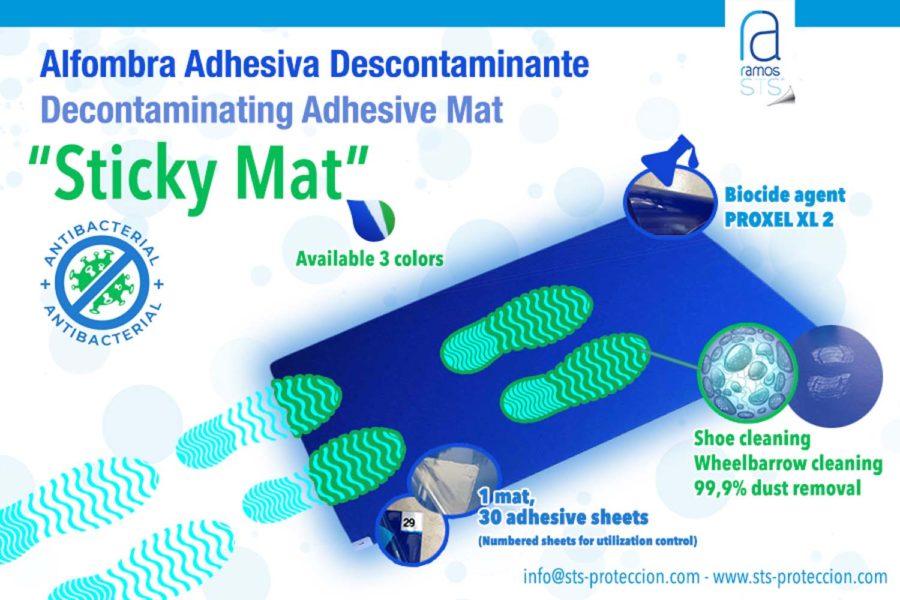 "Ramos STS. Alfombra adhesiva descontaminante CleanGuard® ""Sticky Mat""."