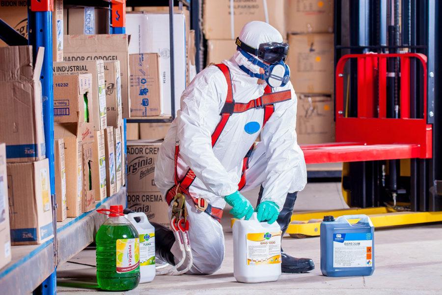 Productos químicos en construcción.