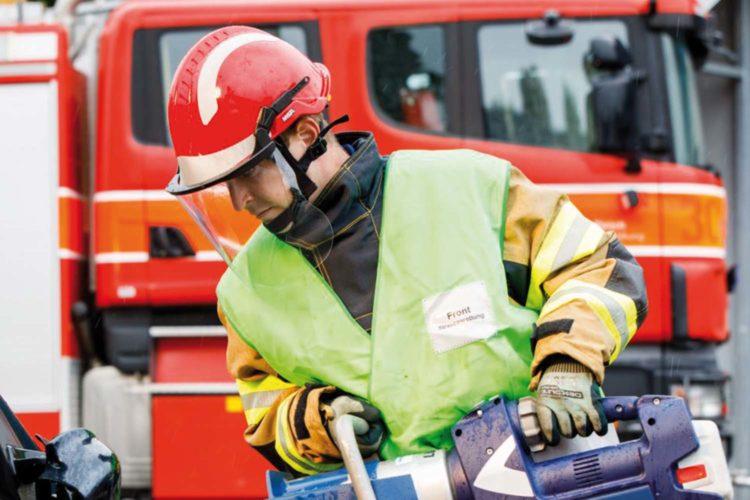 Casco de bombero.