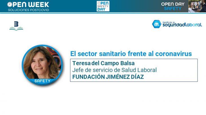 Teresa del Campo, jefe de servicio de Salud Laboral de la Fundación Jiménez Díaz. Open Safety Day.