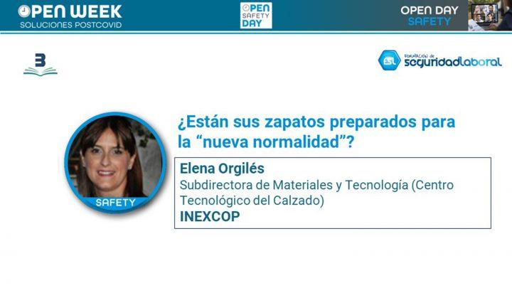 Elena Orgilés, subdirectora de Materiales y Tecnología de Inescop. Open Safety Day