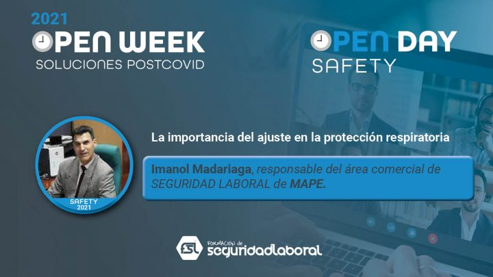 Imanol Madariaga, responsable del área comercial de Seguridad Laboral de Mape. Safety Open Day 2021.