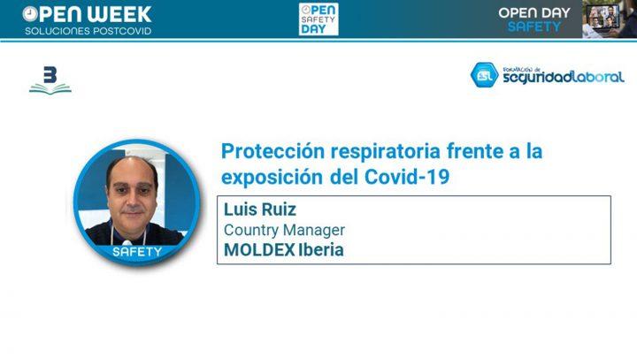 Luis Ruiz, country Manager de Moldex Iberia. Open Safety Day