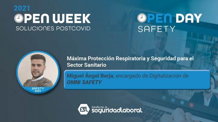 Miguel Ángel Berja, encargado de Digitalización de Omni Safety. Safety Open Day 2021.