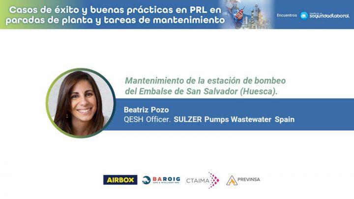Beatriz Pozo, QESH Officer de SULZER Pumps Wastewater Spain.